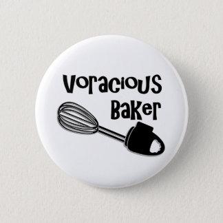 Voracious Baker - Funny Pin Button