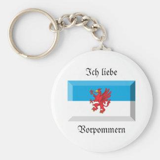 Vorpommern Flag Gem Key Chains