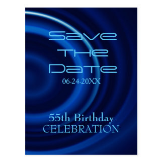 Vortex 55th Birthday Save the Date Postcard