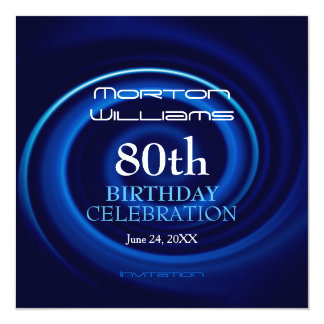 Vortex 80th Birthday Celebration Invitation