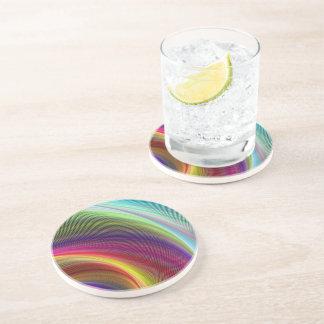 Vortex of Colors Drink Coaster