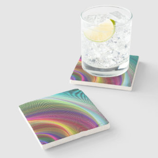 Vortex of Colors Stone Beverage Coaster
