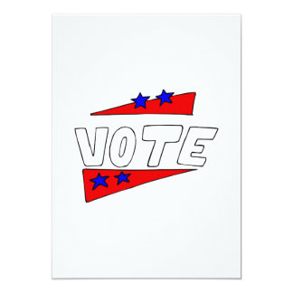 Vote 13 Cm X 18 Cm Invitation Card