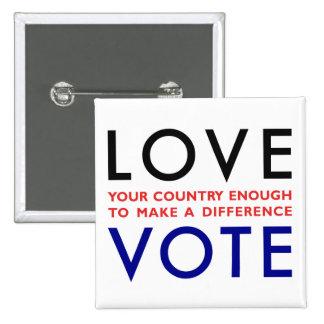 Vote! 15 Cm Square Badge