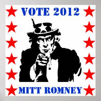 VOTE 2012 MITT ROMNEY stars Poster