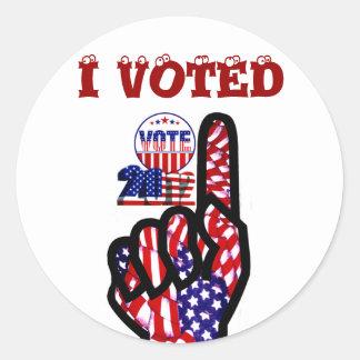 Vote 2012_ round stickers