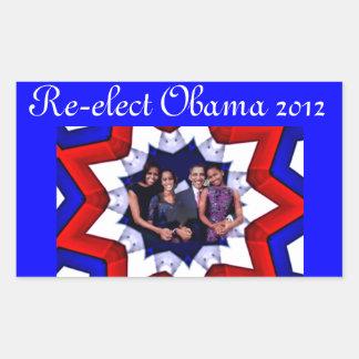 Vote! 2012 rectangular sticker