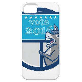 Vote 2016 Democrat Donkey Mascot Cartoon Case For The iPhone 5