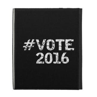 Vote 2016 Distressed Hashtag iPad Folio Cover