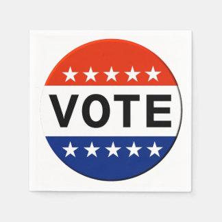 Vote 2018 Midterm Elections Disposable Serviettes