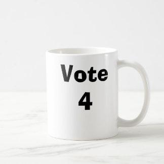Vote 4 basic white mug