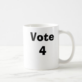 Vote 4 classic white coffee mug