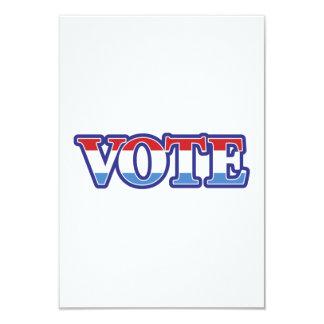 Vote 9 Cm X 13 Cm Invitation Card