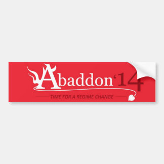 Vote Abaddon Bumper Sticker