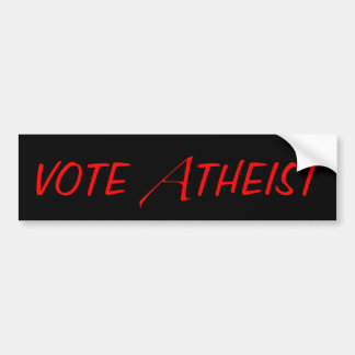 Vote Atheist Bumper Sticker Car Bumper Sticker