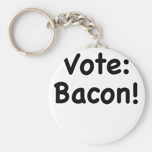 Vote Bacon Key Chains