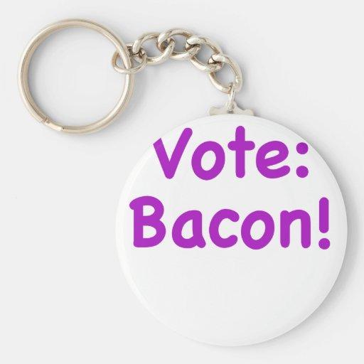 Vote Bacon Key Chain