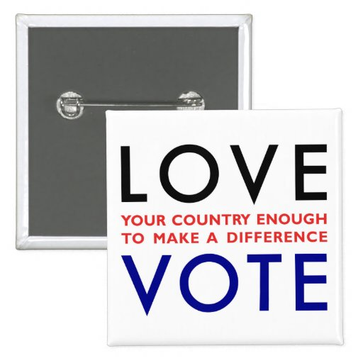 Vote! Pinback Buttons