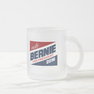 Vote Bernie for President 2016 Campaign Sign Frosted Glass Mug