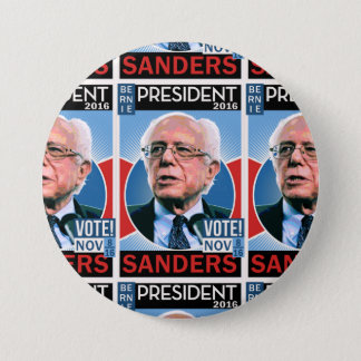 Vote Bernie Sanders Nov. 8, 2016 7.5 Cm Round Badge