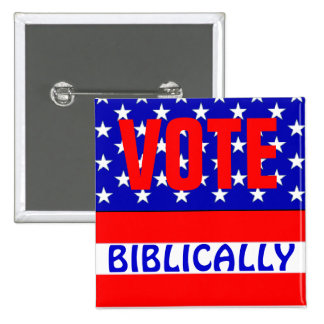 Vote Biblically Pins