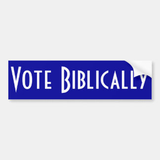Vote Biblically Bumper Sticker