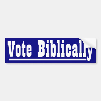 Vote Biblically Car Bumper Sticker