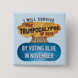VOTE BLUE button