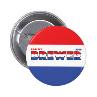Vote Brewer 2010 Elections Red White and Blue Pins
