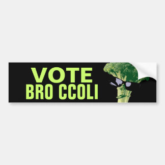 Vote Bro Ccoli Bumper Sticker