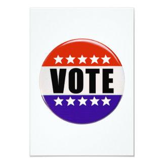 Vote Button 9 Cm X 13 Cm Invitation Card
