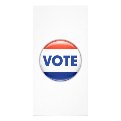 Vote Button Photo Greeting Card