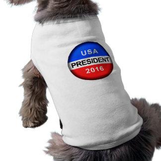 Vote Button President Sleeveless Dog Shirt