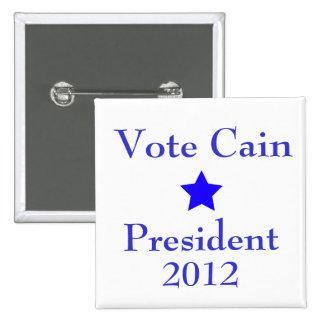 Vote Cain Button