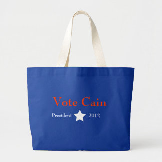 Vote Cain Large Tote Bag