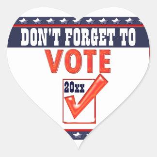 Vote candidate President 20xx CUSTOMIZE Heart Sticker