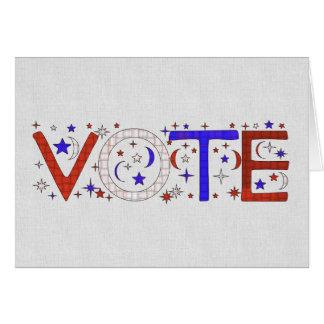 VOTE NOTE CARD