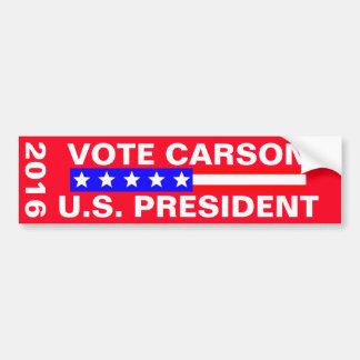 Vote Carson 2016 Presidential Election Bumper Sticker