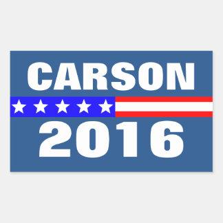 Vote Carson 2016 Presidential Election Rectangular Sticker