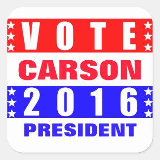 Vote Carson 2016 Presidential Election Square Sticker
