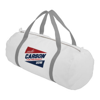 Vote Carson for President 2016 Campaign Sign Gym Duffel Bag
