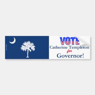 Vote Catherine Templeton for Governor Bumper Sticker
