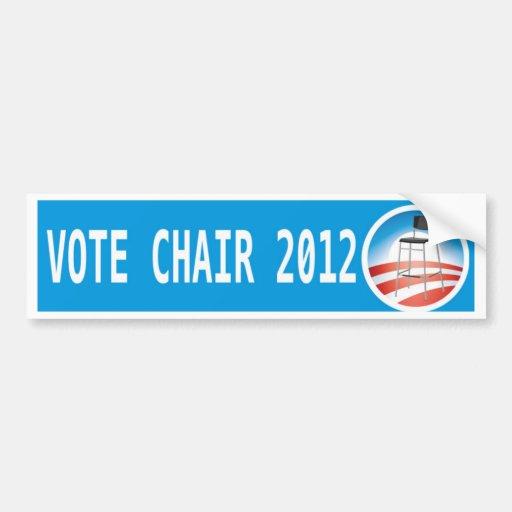 VOTE CHAIR 2012 BUMPER STICKERS