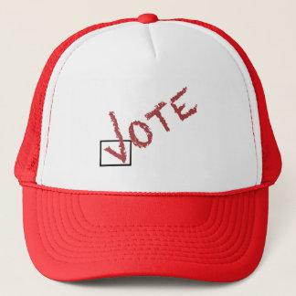 vote check mark trucker hat