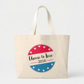 Vote Choose to Love Large Tote Bag