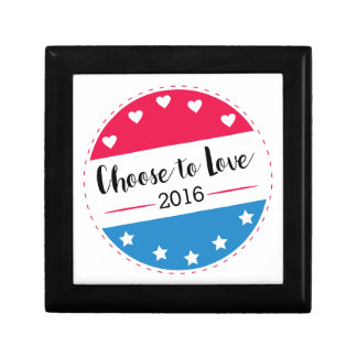 Vote Choose to Love Small Square Gift Box