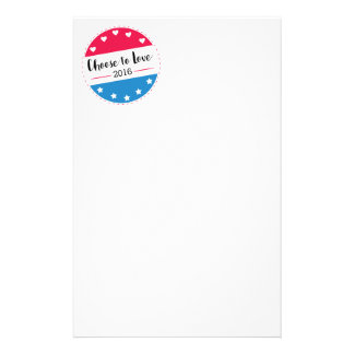 Vote Choose to Love Stationery