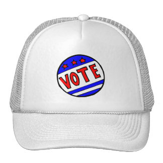VOTE circle seal with stars and stripes red blue Hat