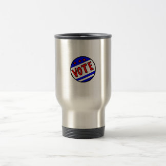 VOTE circle seal with stars and stripes red blue Mug