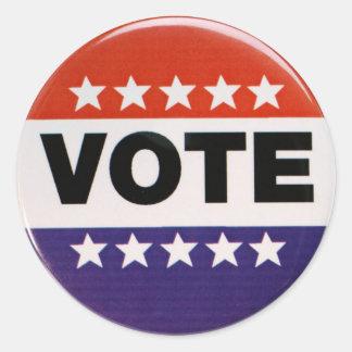 Vote! Classic Round Sticker